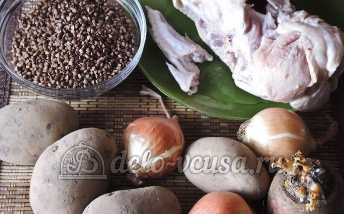 Гречневый суп с курицей: Ингредиенты