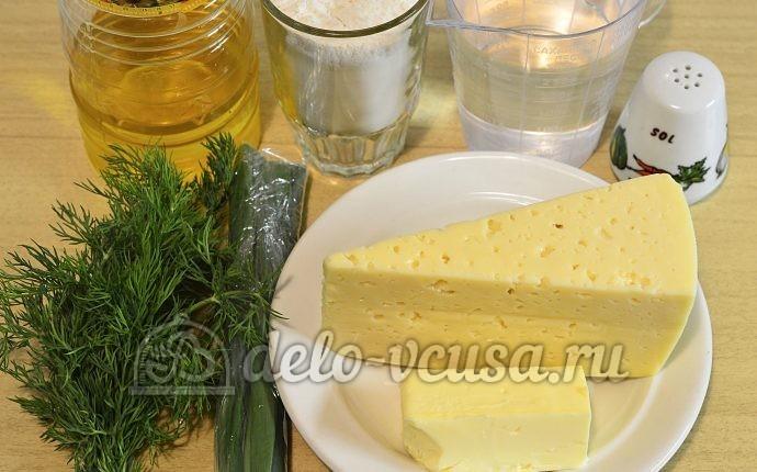 Кутабы с сыром и зеленью: Ингредиенты