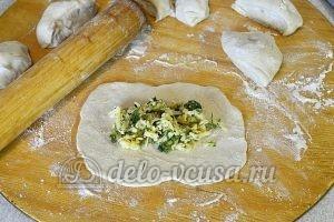 Кутабы с сыром и зеленью: Добавить начинку