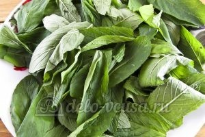 Мятный сахар: Отделить листья мяты
