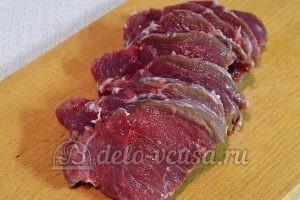 Отбивные из говядины в духовке: Подготовить мясо