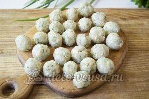 Овощной суп с фрикадельками: Сформировать фрикадельки
