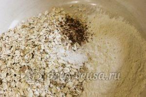 Овсяное печенье с сыром: Соединить сухие ингредиенты