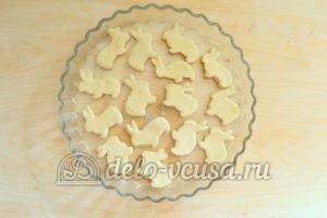 Печенье на пиве: Кладем печенье в форму