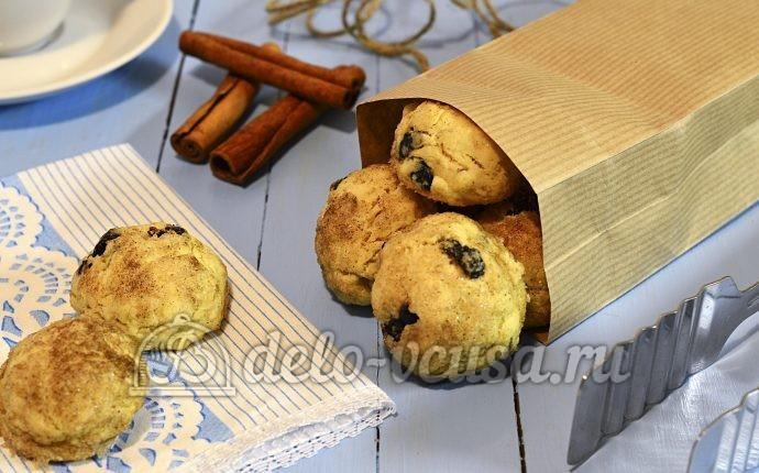 Печенье с корицей и изюмом