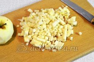 Печенье с яблоками и корицей: Подготовить яблоки