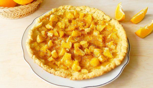Песочный пирог с апельсинами - пошаговый рецепт с фото на ...