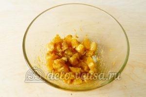 Песочный пирог с апельсинами: Начинку перемешать