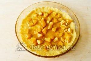 Песочный пирог с апельсинами: Добавить начинку