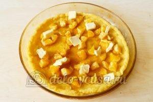 Песочный пирог с апельсинами: Добавить сливочное масло