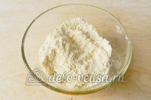 Песочный пирог с апельсинами: Перемешать в крошку