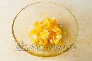 Песочный пирог с апельсинами: Апельсины очистить