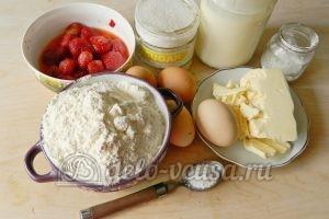 Песочный пирог с клубникой: Ингредиенты