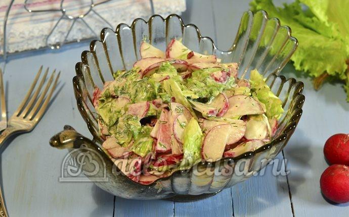 Салат из редиски со сметаной