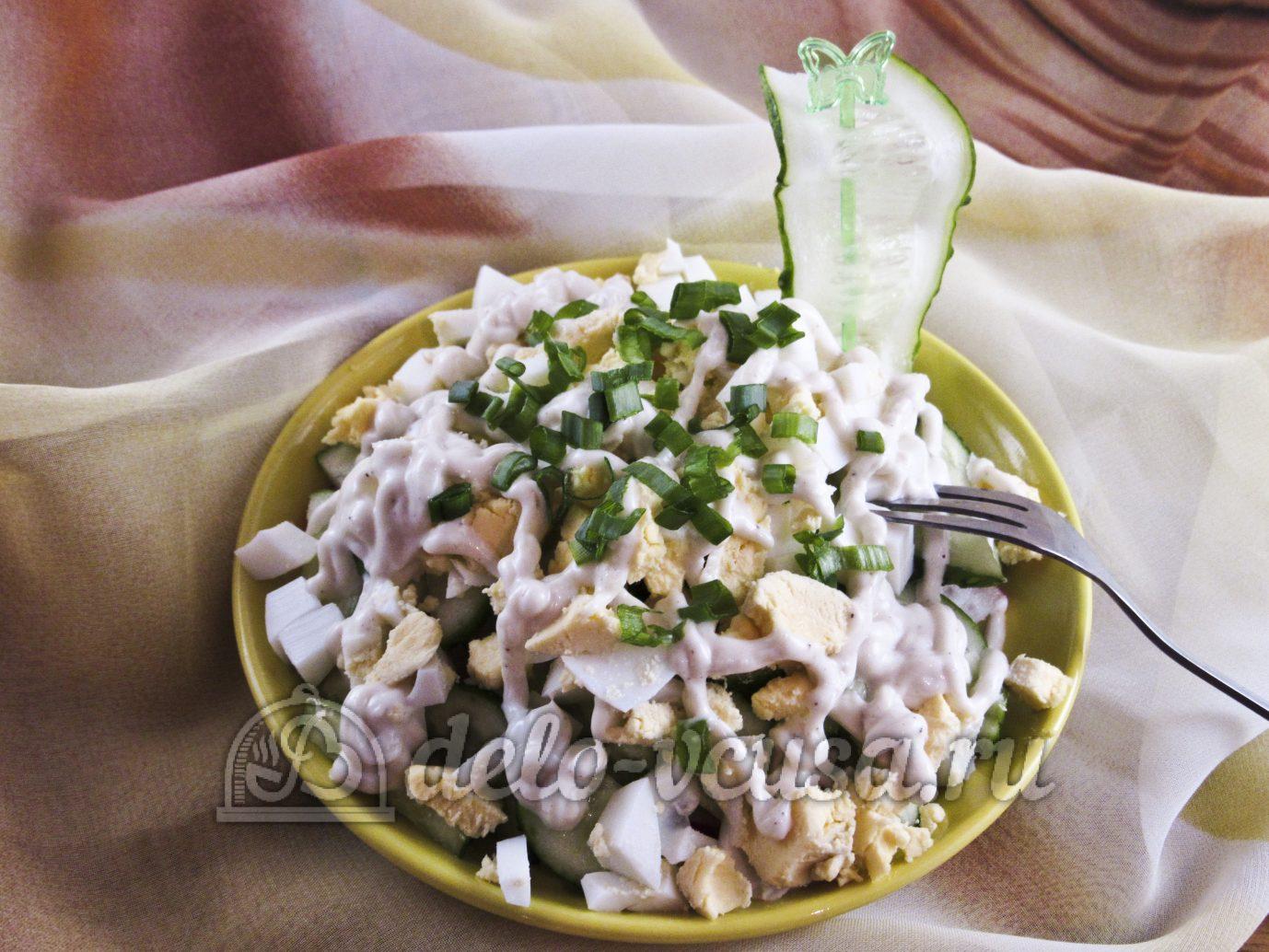 Рецепт салат из редиски с яйцом и огурцом