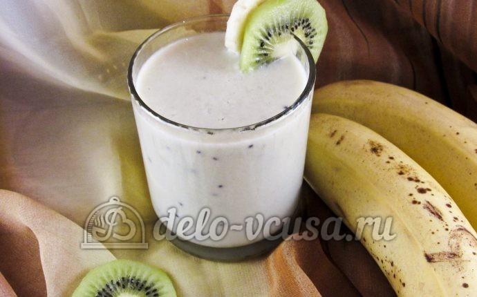 Овсяный смузи с бананом и киви
