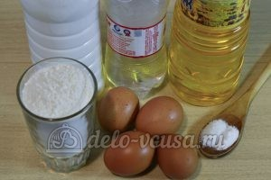Блины на кефире и минералке: Ингредиенты