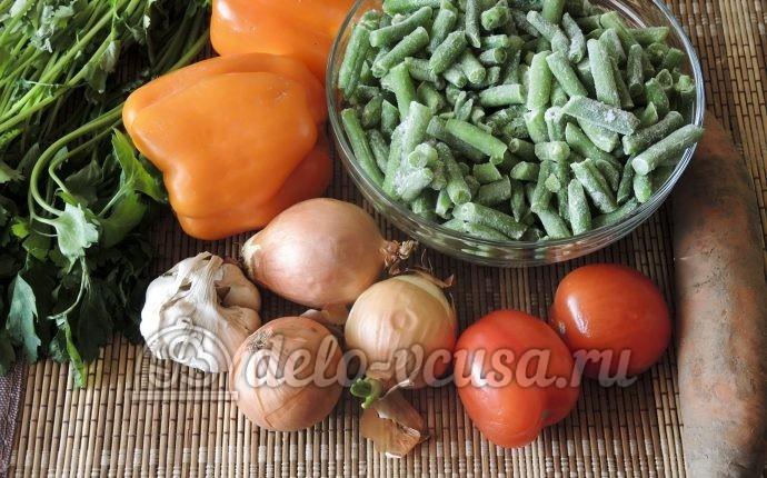 Стручковая фасоль с овощами: Ингредиенты