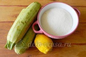 Варенье из кабачков с лимоном: Ингредиенты