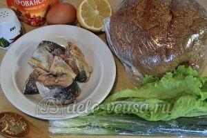 Фаршированный хлеб с рыбными консервами: Ингредиенты