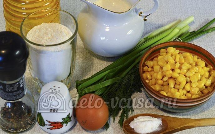 Маффины с кукурузой и зеленью: Ингредиенты