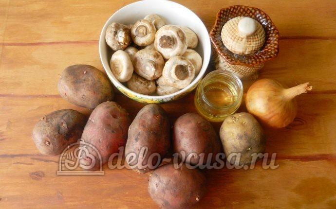 Жареная картошка с шампиньонами: Ингредиенты