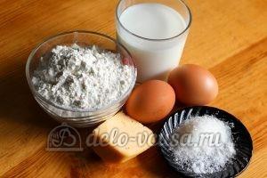 Блины с сырным припеком: Ингредиенты