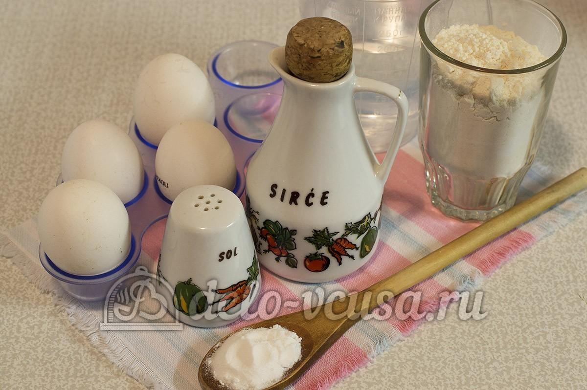 рецепт блинов из одного яйца на воде