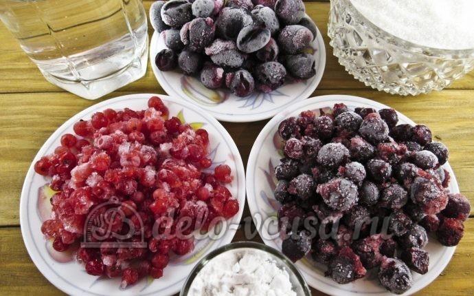 Кисель из ягод: Ингредиенты