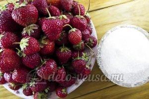 Клубника перетертая с сахаром: Ингредиенты