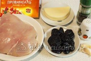 Куриный рулет с черносливом: Ингредиенты