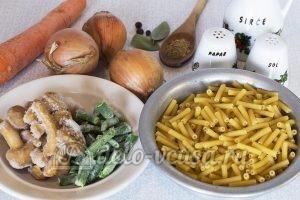 Макароны с овощами и грибами: Ингредиенты