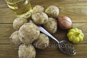 Молодая картошка с луком: Ингредиенты