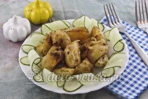 Молодая картошка с луком