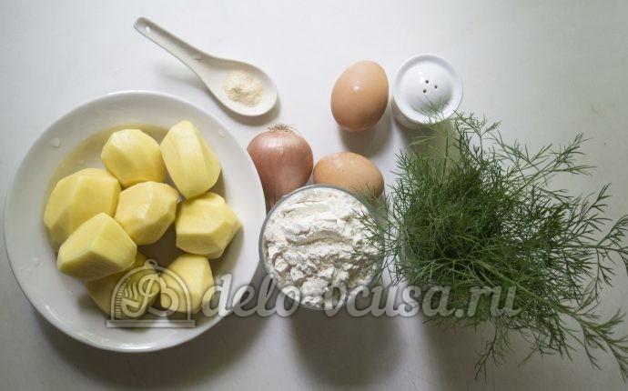 Оладьи из картофельного пюре: Ингредиенты
