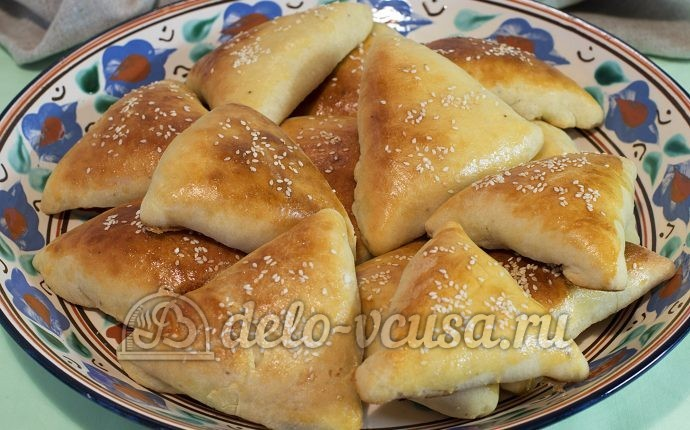 Домашние пирожки с мясом в духовке пошаговый рецепт