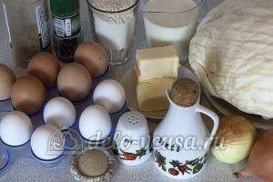 Пирожки с капустой и яйцом в духовке: Ингредиенты