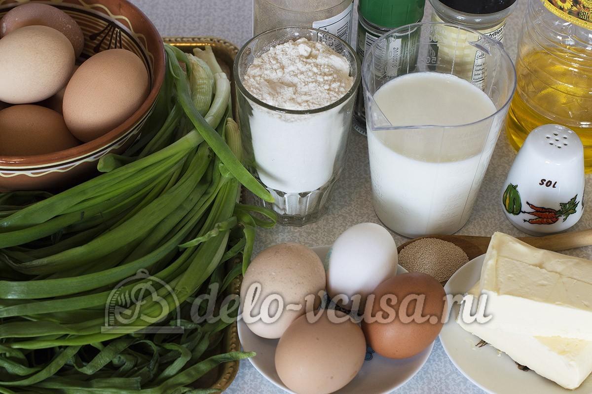 Пирожки с яйцом и луком в духовке: Ингредиенты