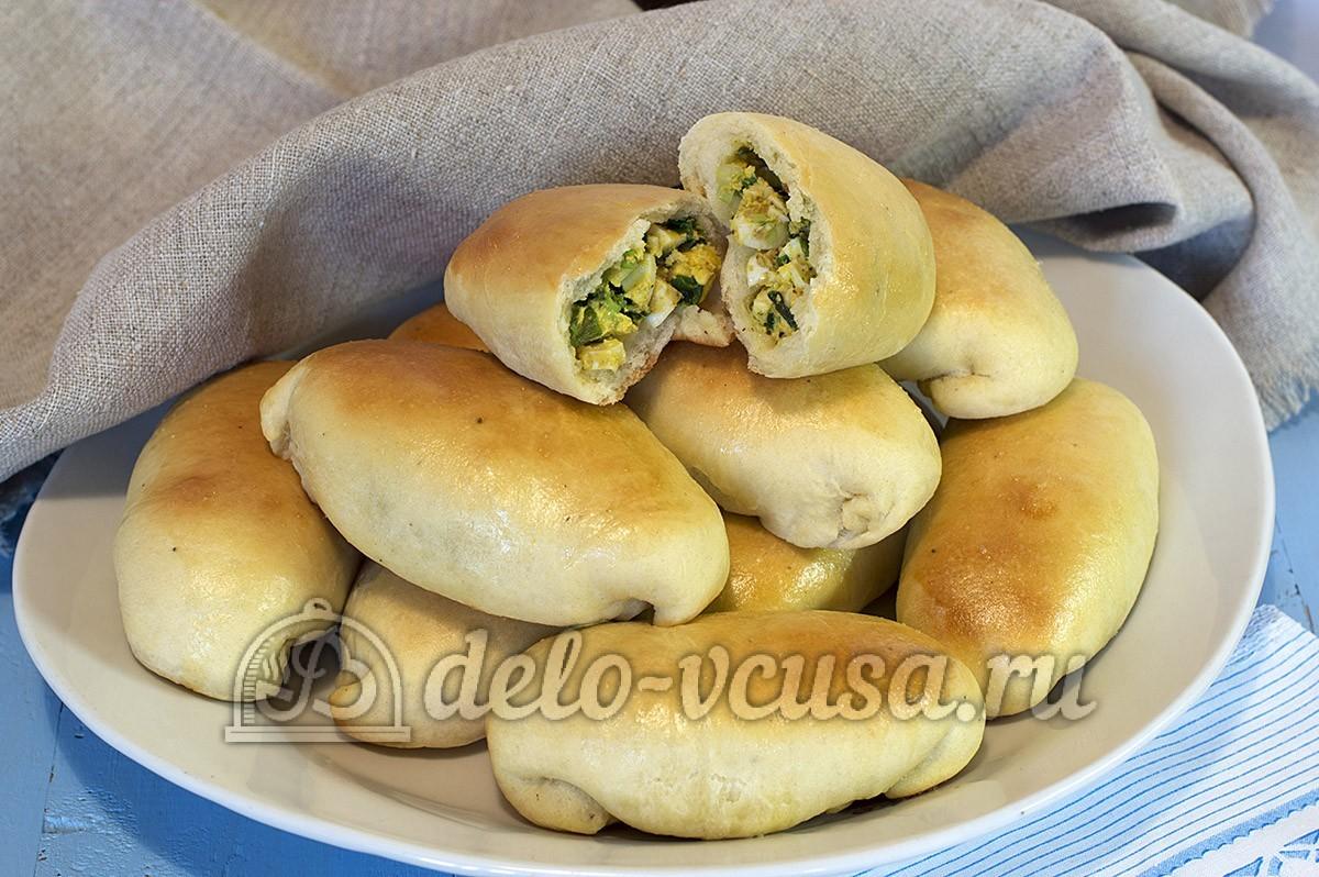 Пирожки с яйцом и луком в духовке