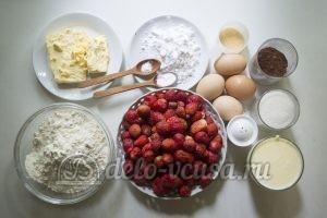 Пирог с клубникой и заварным кремом: Ингредиенты