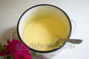 Пирог с клубникой и заварным кремом: Добавить желатин