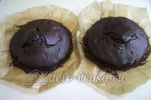 Шоколадный торт с черникой: Бисквит остудить