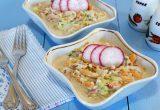 Салат из моркови, огурца и редиски