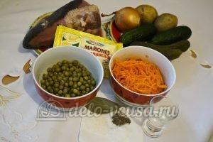 Салат с языком и морковью по-корейски: Ингредиенты