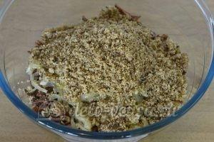 Салат из редьки с говядиной: Соединить ингредиенты