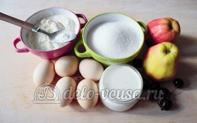 Шарлотка со взбитыми сливками: Ингредиенты