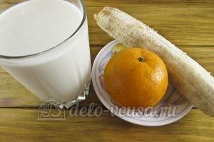 Смузи на кефире с бананом и мандарином: Ингредиенты