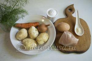 Суп с молодой картошкой и курицей: Ингредиенты