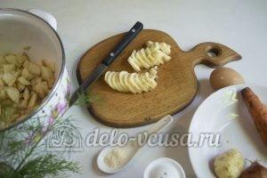 Суп с молодой картошкой и курицей: Картошку подготовить