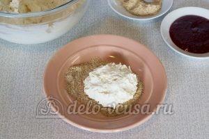 Сырники с вареньем: Кладем сверху творожное тесто
